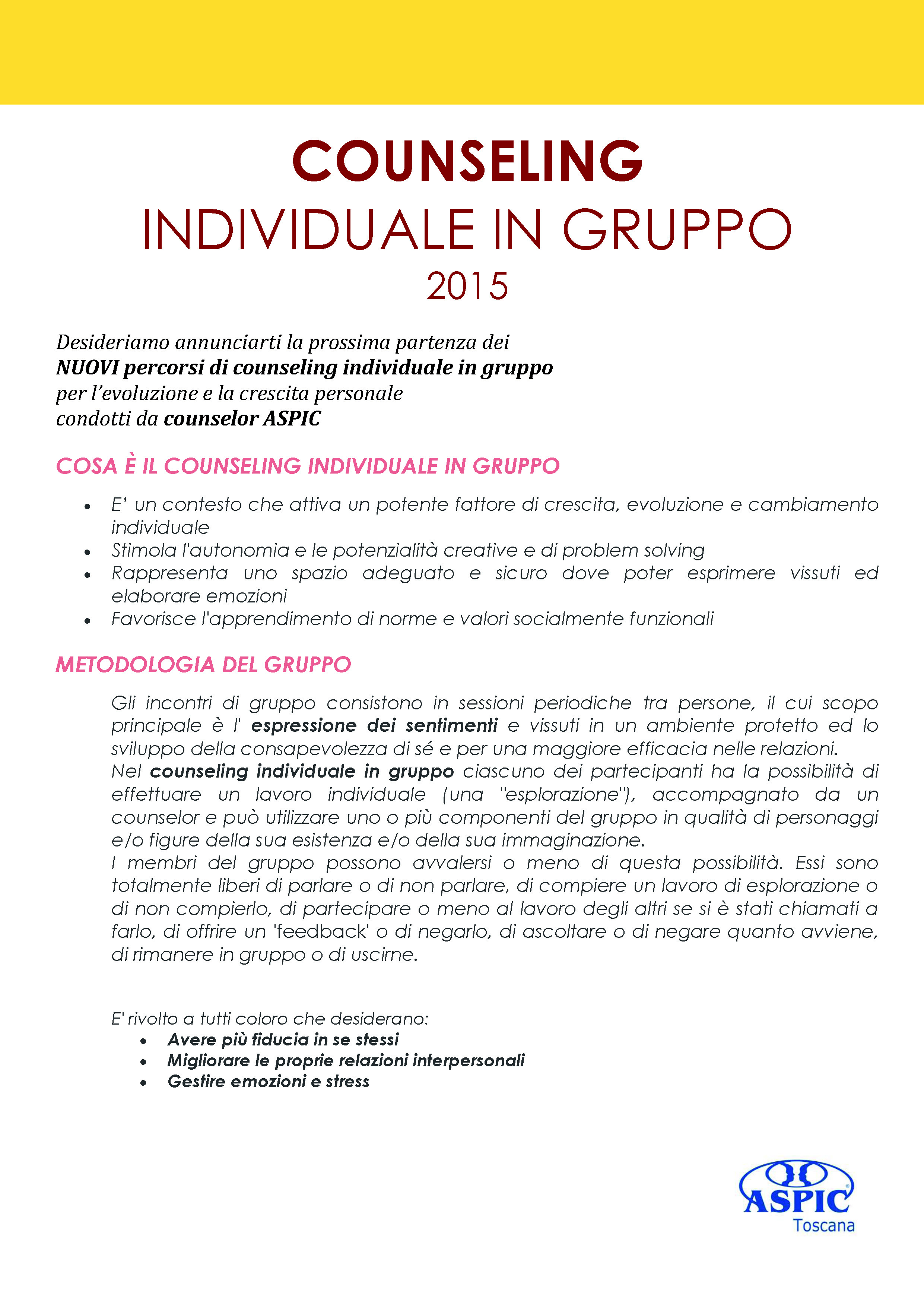 Counseling individuale in gruppo 2015_Pagina_1_Pagina_1